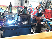 Automatic production line welding